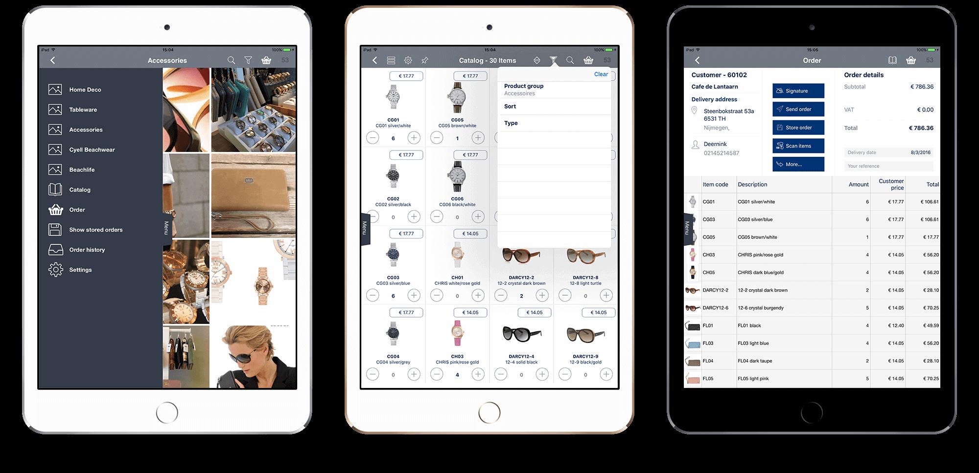 App4Customers Order en Catalogus App