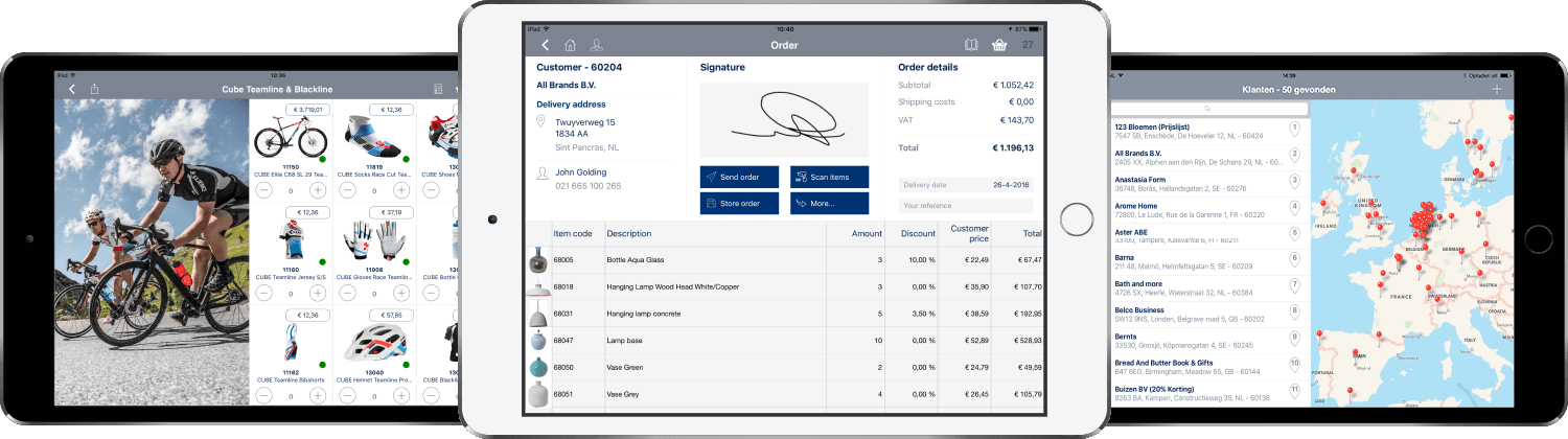 Product sales app tablets