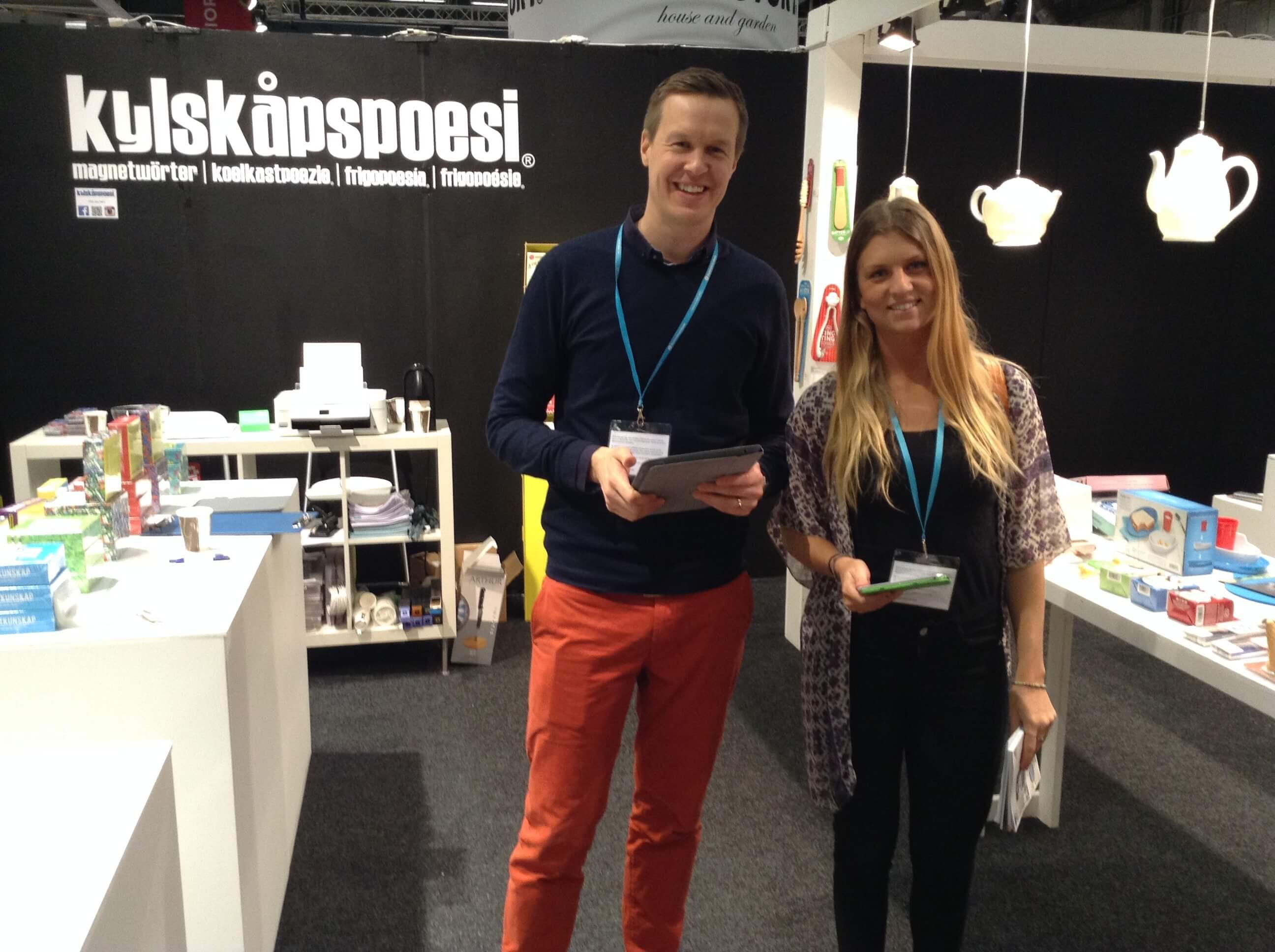 Jonas från Kylskåpspoesi och Malin från Optimizers på Formex