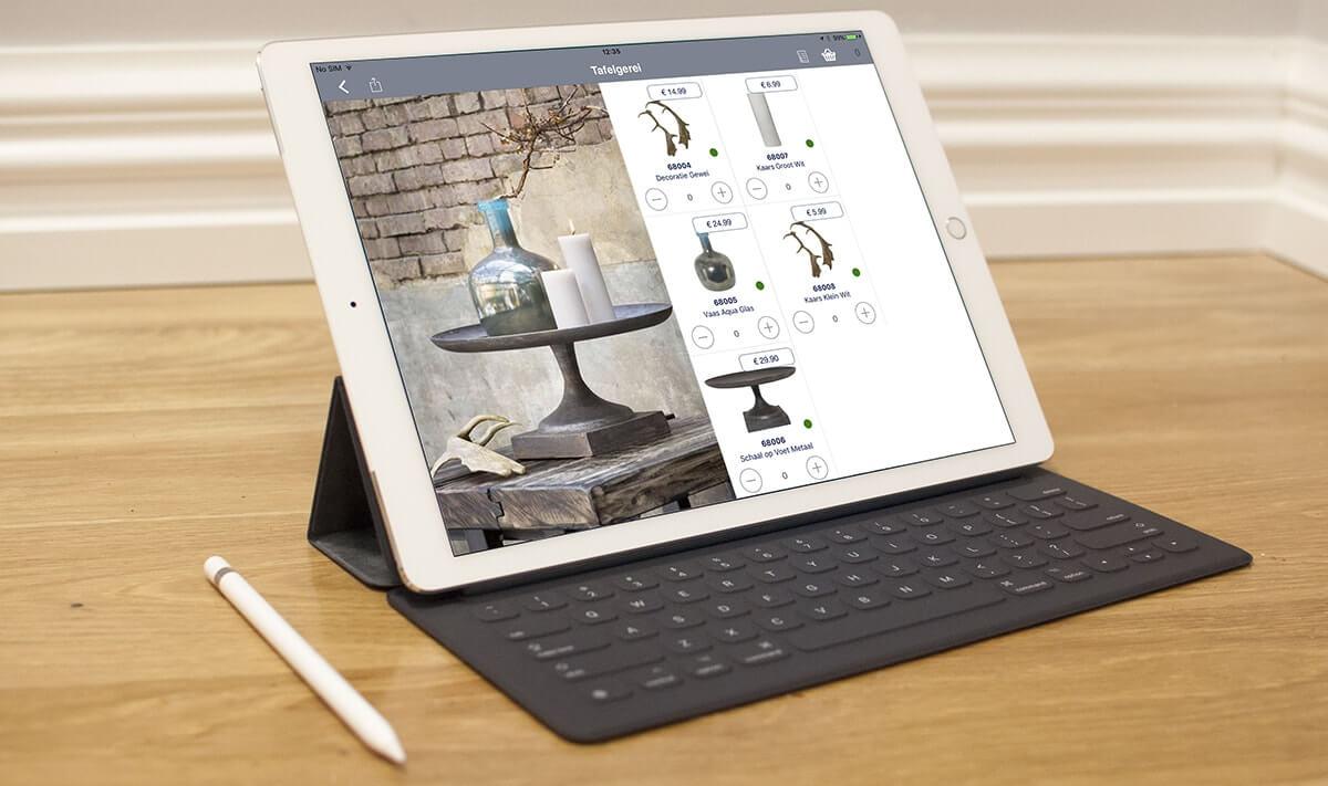 App 4 Sales Lookbook catalogus weergave