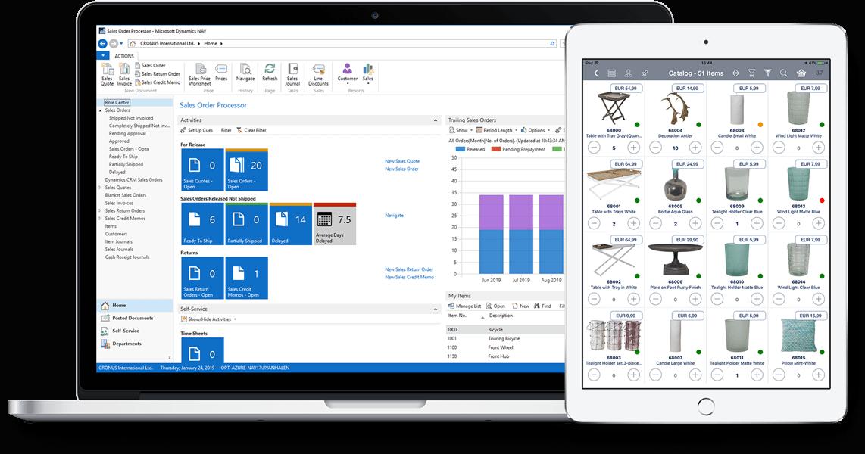 Microsoft Dynamics Navision sales app