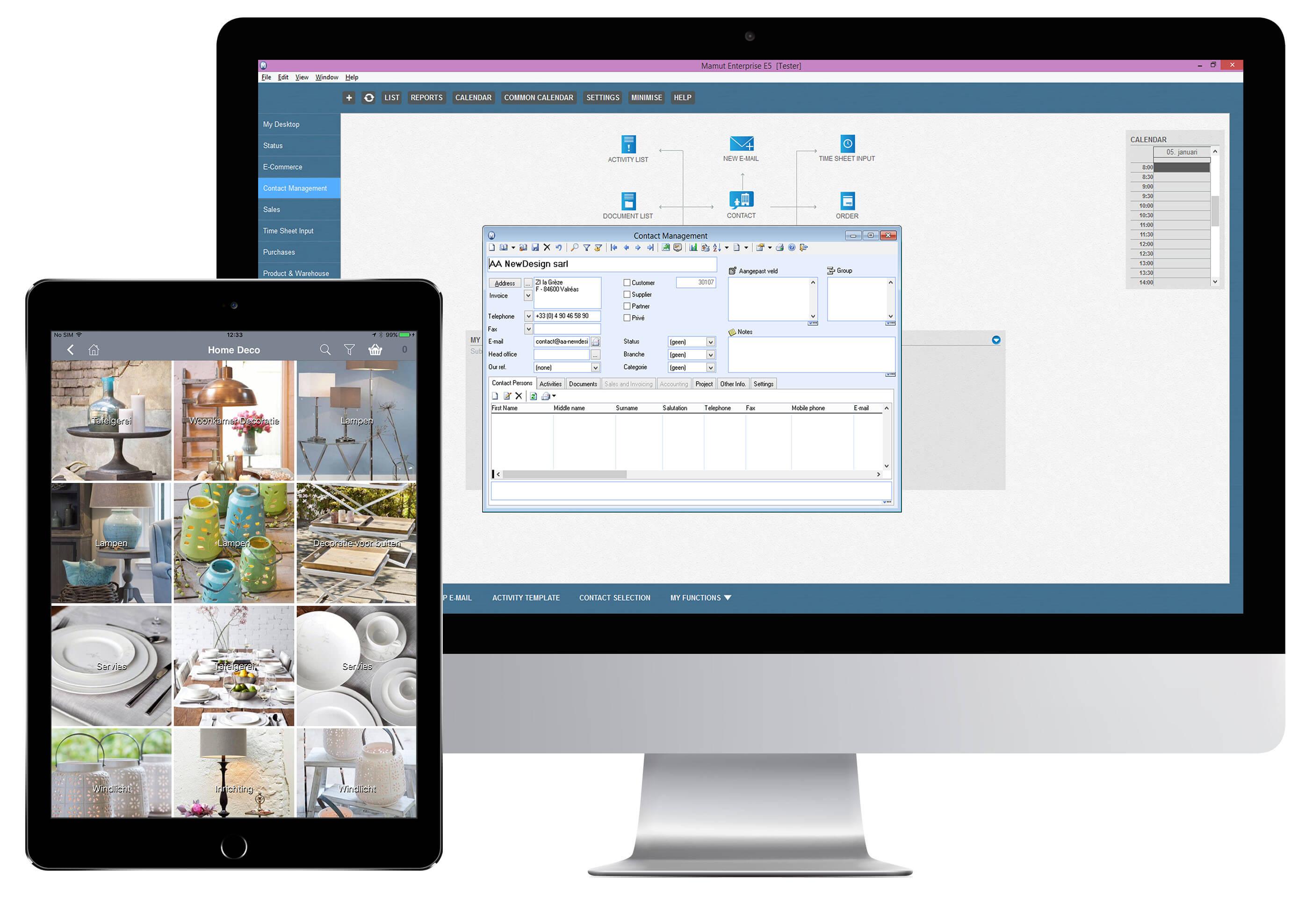App4Sales Visma Mamut One koppeling Tablet