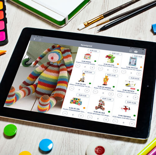 Speelgoed catalogus weergave verkoop app