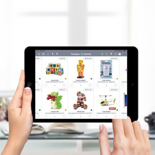 Speelgoed filter in catalogus verkoop app