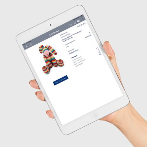 Verkoop app speelgoed voorraad